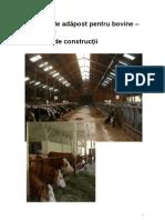 Sisteme de Adapost Pentru Vaci. Exemple de Constructii