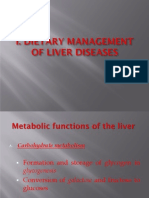 Dietary Mgt for Liver, Gallbladder, And Pancreas Disease