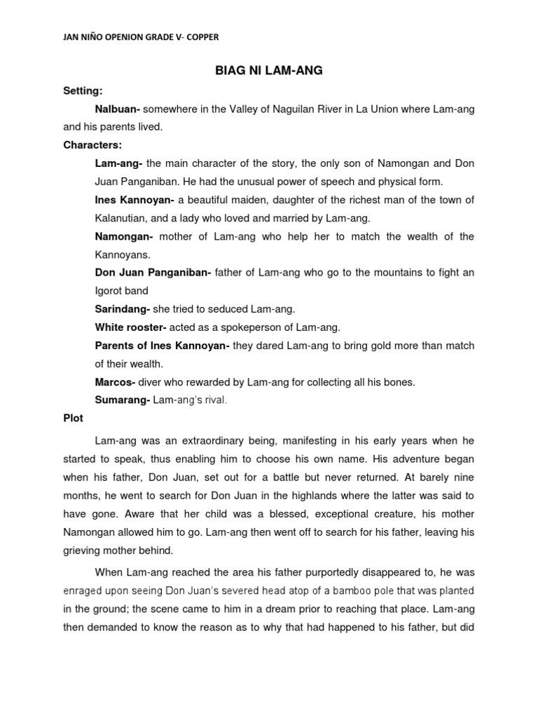 biag ni lam ang story essay Biag ni lam-ang (life of lam-ang) short story the story of a guy named lam-ang but this is not the whole story its just the summary (tagalog version) biag ni lam-ang (life of lam-ang) 83k 21 13 ni ronjasperbonoan ni ronjasperbonoan follow ibahagi share via google+ share via email report story ipadala.