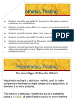 5 Hypothesis Testing