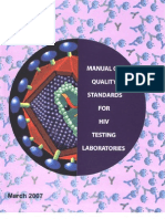 Manual on Quality Standads for HIV Testing Laboratories Naco