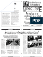 Versión impresa del periódico El mexiquense  19 agosto 2013