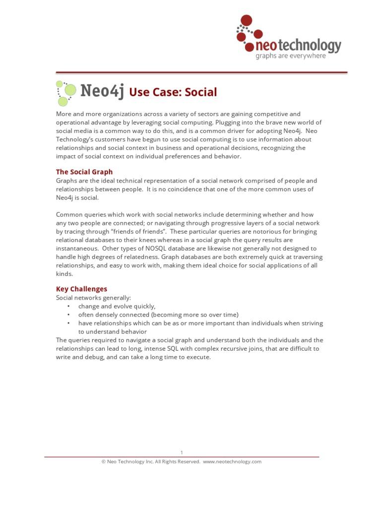 Neo4j Use Case Social | Relational Database | Databases