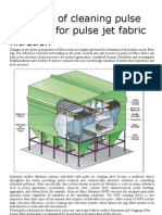 Selection of Cleaning Pulse Pressure for Pulse Jet Fabric Filtration