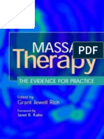 Grant Jewell Rich Massage Therapy the Evidence for Practice