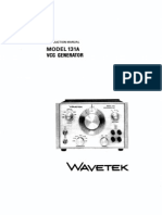 Wavetek 131A - Voltage Controlled Function Generator - Manual