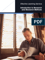 Introduction to Research and Research Methods
