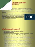 Introduction to Primavera P6