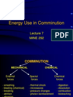 MINE292 Lecture7 Energy Used in Comminution 2013