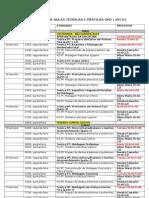 CRONOGRAMA DE AULAS TEÓRICAS E PRÁTICAS UPD   I 2013-1 (Salvo Automaticamente)