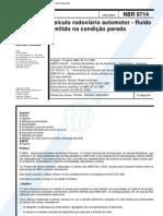 NBR 9714 2000 - Ruido - Veiculo Rod
