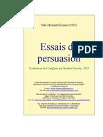Keynes Essais Persuasion