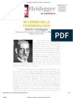 Heidegger en castellano - Mi camino en la fenomenología