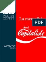 Ludwig Von Mises La Mentalite Anticapitaliste