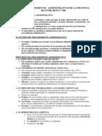 Ley de Procedimientoa Administrativos 7060 Entre Rios