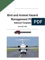 Bird and Animal Hazard Managemente Plan