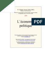 W.S.jevons Economie Politique