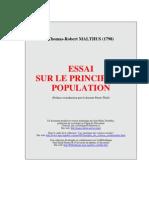 T.R.malthus_Essai Sur Le Principe de Population