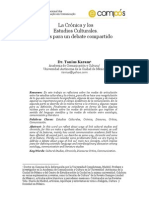 Cronica y Estudios Culturales