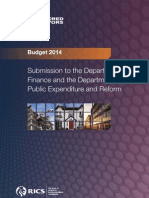 Chartered Surveyors Prebudgetsubmission_2014