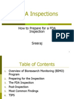 How to Prepare for a FDA Inspections