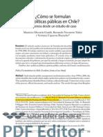Como se formulan las politicas públicas en Chile.  Mauricio Olavarría
