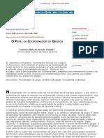 Psicologia USP - The Role of Group Coordinators
