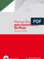 1 Manual Elecciones Para Autoridades de Mesa 2013