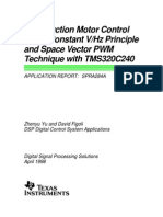 Ac Motor Control Theory (Constant v-F and Vector Pwm With Dsp Tms320)