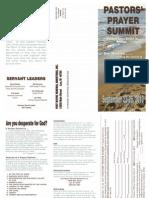 2013 Prayer Summit Brochure