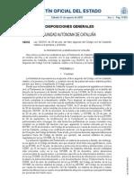 CATALUÑA Ley 25 2010, del Libro II del Código Civil de Cataluña, relativo a la persona y la familia