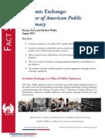 Academic Exchange - A Pillar of American Public Diplomacy