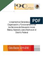 LINEAMIENTOS 2011 - 2012