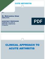 Acute Arthritis