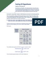Testing of Hypothesis Homework Help1