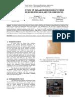 EXPERIMENTAL STUDY OF DYNAMIC BEHAVIOUR OF HYBRID  JUTE/SISAL FIBRE REINFORCED POLYESTER COMPOSITES