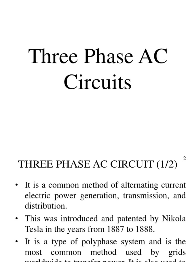Three Phase Ac Circuit Alternating Current Engineering Power In Circuits