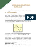 Calculo de La Impedancia, Potencia y Factor de Potencia Cen Ckto Rl, Rc-lab 08