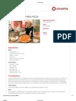 masa básica pizza