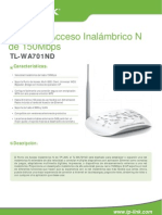 TL-WA701ND v2 Datasheet Esp
