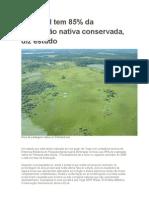 Pantanal tem 85% preservado