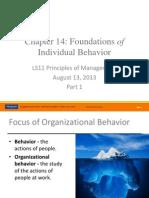 LS11 CVL2013S1_Ch14 Behavior Part1