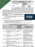 Plano de Curso - Proteção Contra Incêndio Módulo II - Vitória da Conquista - 2012