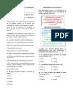 Evaluación Naturales 2° periodo 2012