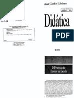 Livro Didtica Libaneo Cap 4 o Processo de Ensino