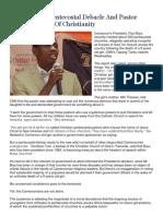 Cameroonian Pentecostal Debacle and Pastor Adeboye