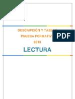 Descripcion Pruebas de Lectura Formativa Junio 2013