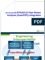 Structural (STAAD) & Pipe Stress Analysis (AutoPIPE) Integration