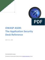Owasp Asdr Application Security Desk Reference Soc2008 Alpha