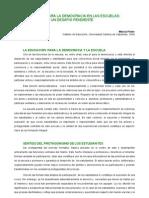 Prieto - Educación para la democracia en las escuelas
